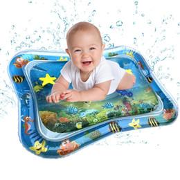 Ingrosso Giocare Bambino Bambini Acqua Mat giocattoli gonfiabili addensare Infant PVC Tempo del Tummy Playmat Bambino Activity Play Center Acqua Mat #F