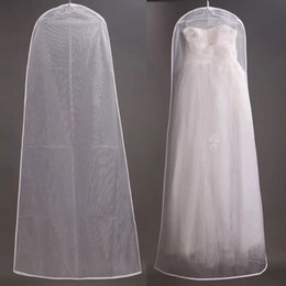 racks cover NZ - 10pcs 180cm 160cm Wedding Dress Dust Cover Encryption Curettage Net Yarn Wedding Dress Dust Cover Reusable Full Dresses Storage Bag