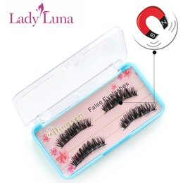 $enCountryForm.capitalKeyWord Australia - 4Pcs pair 3D Pure Mink Magnetic False Eyelashes Double Handmade Soft No Glue False Eye Lashes Cosmetics Extension Tool