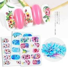 $enCountryForm.capitalKeyWord Australia - 5D nail sticker flower series embossed watermark sticker nail sticker nail applique water paste 3 set