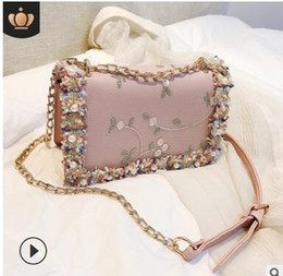 $enCountryForm.capitalKeyWord Australia - Factory direct marketing 2019 new south Korean chain small square bag diamond lock handbag lady one