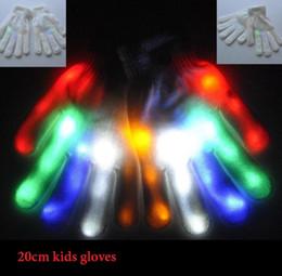 Wholesale raving gloves online – design children LED Flash Gloves Five Fingers Light Ghost Dance Black Bar Stage Performance colorful Rave Light Lighting Gloves Glow Flashing toy
