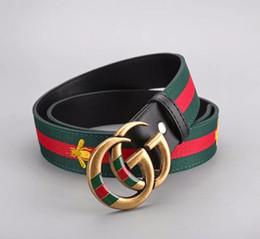$enCountryForm.capitalKeyWord NZ - 2018Luxury High Quality ceinture Designer Belts Fashion stripe pattern big buckle belt Men women formal suit brand belts