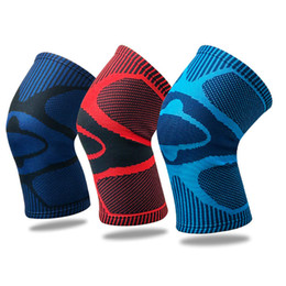 elastic knee sleeve support UK - Elbow Knee Pads Fitness Running Cycling Knee Support Braces Elastic Nylon Sport Compression Knee Pad Sleeve for Basketball Volleyball