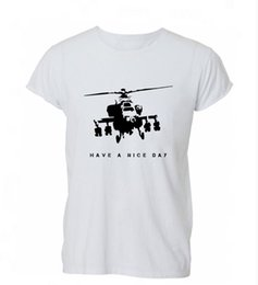 $enCountryForm.capitalKeyWord Australia - 2019 New Hot Sale Men T-shirt Banksy Have A Nice Day War Chopper Art Graffiti T Shirt Tshirt Mens Womens Gift