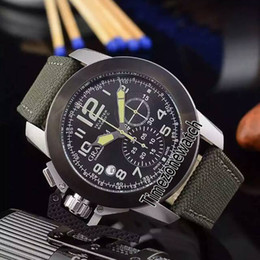 Luxury Watches Oversize Australia - New Chronofighter Oversize Amazonia 2CCAU Two Tone Steel Black Bezel Black Dial Quartz Chronograph Mens Watch Stopwatch Green Nylon GH01b2