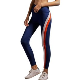 $enCountryForm.capitalKeyWord NZ - Striped Printed High Waist Sports Leggings Women High Waist Fitness Clothing Ladies Sport Running Pants Girls Yoga Pants #YL1 #333787
