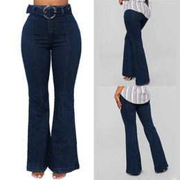 1c8d143beec1 Discount cut holes jeans - Women Elastic Plus Loose Denim Pocket Button  Casual Flare pants Pant