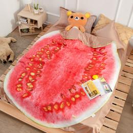 Wedding Bedding Australia - Creative blankets summer Fruit watermelon quilt bed sheet wedding decoration Bedding set Cartoon quilt bedroom decor Children