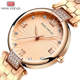 $enCountryForm.capitalKeyWord Australia - MINIFOCUS Luxury Fashion Dress Watch Women Rose Gold Watch Turtle back Belt Crystal Casual Quartz Clock Gift Dropshipping