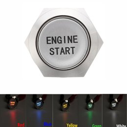 Waterproof Momentary Push Button Switch NZ - 12V 19MM Car Auto Metal Momentary Engine Start Push Button Switch LED 5 Colors Waterproof