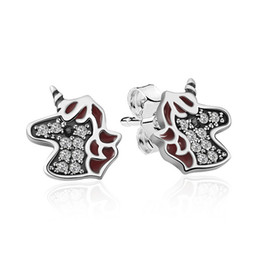 9f4e1835c 2019 NEW 100% 925 Sterling Silver Cute Zodiac Horse Studs Advanced Products  Glamour Retro Women Gift Jewelry Factory Direct