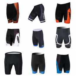 ktm cycling wear 2019 - GIANT KTM team summer Outdoor sports Breathable Quick drying cycling mens shorts Wear resistant 3D Gel pad shorts Q62714