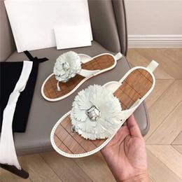 $enCountryForm.capitalKeyWord Australia - 19SS summer new camellia flower flip-flops sea sandals for women on holiday Casual flat bottom open-toe slippers