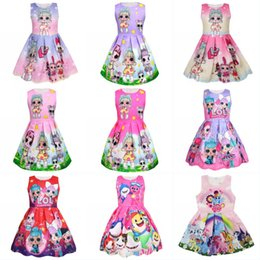 e1dd8b5a1bd Baby Doll Printed Dresses Sleeveless Fashion Girl Cartoon Princess Doll  Printed Dress Cotton Ins Doll Printed Princess Costume