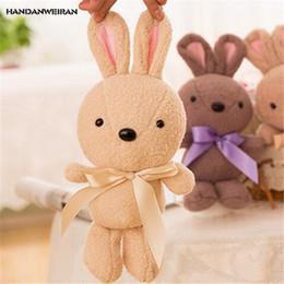 $enCountryForm.capitalKeyWord Australia - HANDANWEIRAN 1Pcs New Cute Bunny Stuffed Plush Toys 22 CM Kawaii Scarves Rabbit Plush Dolls Toy Valentine Gifts Rabbit PP Cotton