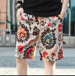 Air Pants Australia - Air-permeable light shorts, summer five-minute pants, cotton and hemp men's beach pants, fluffy pants, leisure young middle-aged pants