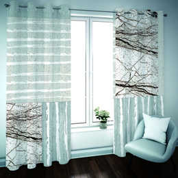 window double NZ - 3D Printing Blackout Curtain Simple marble Curtains For Window Treatment 3D Living Room Bedroom Drapes