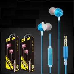 Mobile Interfaces NZ - 5pcs lot Metal in-ear headphones Sports music fashion 3.5 interface subwoofer mobile phone universal earphones