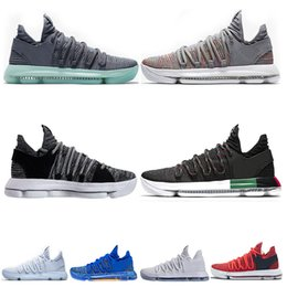 the latest 7b67c 7ecc6 Hot Sale KD 10 Kevin Durant Men Basketball Shoes Oreo BHM White black  Numbers Anniversary Stucco Igloo Multi Color 10 X Sports Sneaker