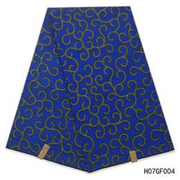 $enCountryForm.capitalKeyWord Australia - wax hollandais 100% Cotton Blue Color Wax African Real Dutch Wax Veritable African Print Fabric For Party Dress