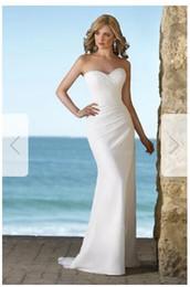 Silk Satin Sheath Wedding Dresses Australia - Sheath Column Strapless Sweetheart Court Train Chiffon Wedding Dress nm