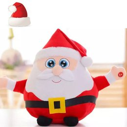 santa plush toys NZ - 22CM Light Up LED Sing a Christmas song Colorful Glowing Luminous Plush Santa Claus Stuffed Doll Toys Lovely Gifts for Kids
