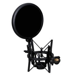 records pop NZ - EDAL Double Layer Studio Microphone Mic Wind Screen Pop Filter with Shock Mount For Speaking Recording Accesories