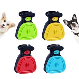 large picks Canada - Foldable Pooper Scooper Poop Scoop Clean Pick Up Cleaner With Litter Bag Holder Silicone Plastic Dog Pet Travel New