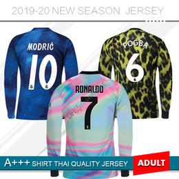 2019 Real Madrid Blue Long Sleeves Limited Edition  6 POGBA soccer Jersey  EA Sports 18 19 Juventus  7 Ronaldo Man United football Shirts 6ccf622d9