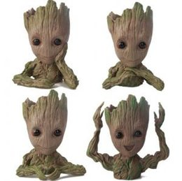 baby pots 2019 - Guardians of The Galaxy Flowerpot Tree Man Baby Groot Action Figure Pen Container Doll Cute Model Christmas Toys OOA6292