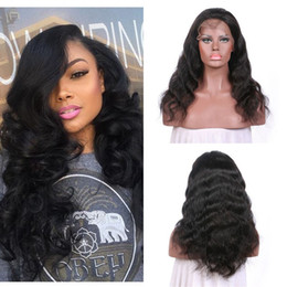 12 14 16 inch wig NZ - 130% 150% Density Lace Front Wig Body Wave 10-30 Inch Natural Color Full Lace Wig Unprocessed Human Hair No Shedding FDSHINEHAIR