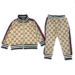 Cotton summer jaCket for girls online shopping - Baby Clothes for Kids Boy Girl Sport Suit Spring Fall Set Vetement Garcon Cardigan Baby Jacket trousers Toddler Clothing for