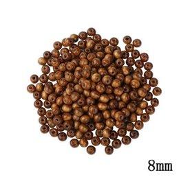 8 MM Encantos Beads Contas De Madeira Natural Diy Set 300 pçs / lote Café Brown Contas De Madeira DIY Para Fazer Jóias Rodada Buraco Frisado