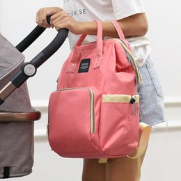 large plastic zipper bags UK - Baby Bags for Mom Diaper Backpack Nappy Stroller Bag Large maternity travel multifunction mummy bag Handbag BSL008