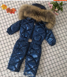 girls zebra coat NZ - winter down jacket girls printed duck down jacket fashion jumpsuit thick coat hot boy brand thick down jacket A124
