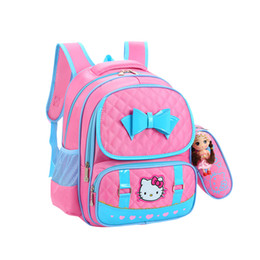 d07cbd6b217 Hello kitty men online shopping - Cartoon Hello Kitty School Bag Cute  Portable Travel Bags Large