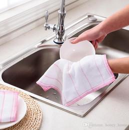$enCountryForm.capitalKeyWord Australia - High Efficient Anti-grease Color Dish Cloth Bamboo Fiber Washing Towel Magic Kitchen Cleaning Wiping Rags