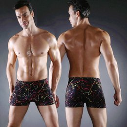f90fa5baf4d Classic Pattern Gay Mens Swimwear Newest Print Swimming Suit Men Elastic  Ties Plus Size XXXL Swimming Trunk Male Swimsuit