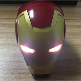 $enCountryForm.capitalKeyWord Australia - Portable Mini Speaker Iron Man Bluetooth Wireless Speakers with LED Flashing Light Stereo Hifi Sound Box TF USB MP3 Player