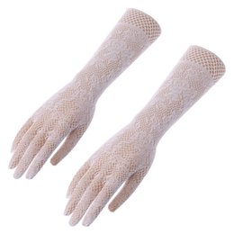 4cc723d6f Long Fingerless Laced Gloves UK - Women Elegant Lace Gloves Mesh Liturgy  Gloves For Bride Long