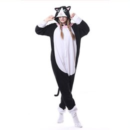 China Black Cat Onesies Adult Kigurumi Pajamas Men Animal Cosplay Costume Women Jumpsuit Kitty Pyjamas Winter Sleepwear For Halloween supplier adult kigurumi animal pajamas suppliers