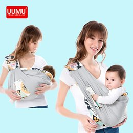 Wholesale kangaroo holder online – oversize UUMU Cotton Sears New Born Baby Wrap Carrier Backpack Sling Gear Maternity Nursing Carrying Belt Holder No Hip seat Kangaroo