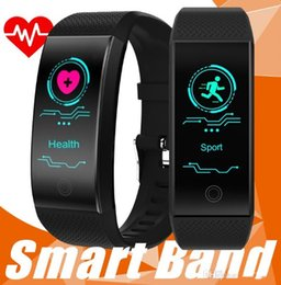 Smart Watches For Windows Australia - Smart Bracelet Wristbands Fitness Activity Tracker QW18 Colorful Screen Waterproof Sport Watch Blood Pressure Monitor For IOS Andorid In Box