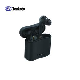 $enCountryForm.capitalKeyWord Australia - Black Bluetooth Earphone HIFI Phone Call Box Charge In-ear Sport Mini Action Chip Invisible IOS Android Phone Universal English Headset
