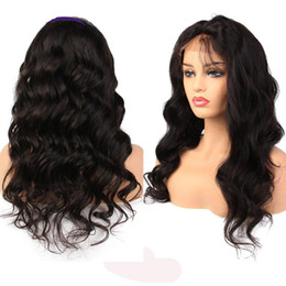 Best Curly Lace Wigs Australia - New arrival best unprocessed top remy virgin human hair big curly long natural color full lace wig for women