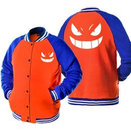 $enCountryForm.capitalKeyWord Australia - Baseball uniform Printed SWORD ART ONLINE TOKYO GHOUL ONE PIECE Fashion Anime Jacket Fleece Men's Coats Harajuku Sportswear Tops