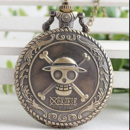 $enCountryForm.capitalKeyWord Australia - Hot Selling Men's Japan Cartoon Anime One Piece Pocket Watch Fashion Men Women Necklace Chain Vintage FOB Steampunk Pendant