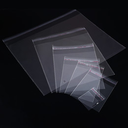 Pack Supplies Australia - 200pcs 4 Sizes Transparent Self Adhesive Sealed Opp Plastic Pouch Sachet Gift Bag For Jewelry Wedding Party Beads Packing Supply