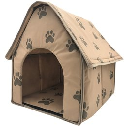 Brown kennels online shopping - NEW Dog House Dog Blanket Foldable Small Footprints Pet Bed Tent Cat Litter Kennel Indoor Portable Travel Pet House Kennel Puppy